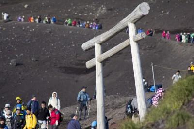 富士山 鳥居